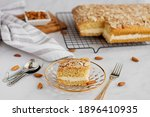 German bee sting cake with a...