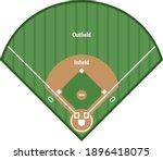 baseball field. color vector...   Shutterstock .eps vector #1896418075