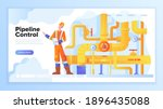 pipeline concept. gas or oil...   Shutterstock .eps vector #1896435088