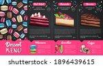 chalk drawing dessert menu...   Shutterstock .eps vector #1896439615