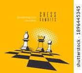 banner template for chess game. ...   Shutterstock .eps vector #1896445345