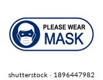 face mask required sign.... | Shutterstock .eps vector #1896447982