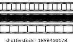 grunge film strips collection.... | Shutterstock .eps vector #1896450178