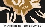 a composition with abstract... | Shutterstock .eps vector #1896469468
