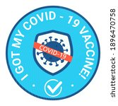 sticker round and bage with... | Shutterstock .eps vector #1896470758