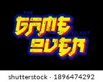the game is not over... | Shutterstock .eps vector #1896474292