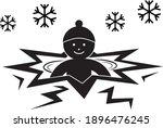 winter swimming vector sign or...   Shutterstock .eps vector #1896476245