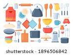 kitchen tools set.kitchen... | Shutterstock .eps vector #1896506842