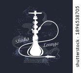 hookah with smoke stylized flat ...   Shutterstock .eps vector #1896538705