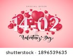 happy valentine's day greeting... | Shutterstock .eps vector #1896539635