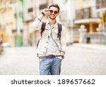 portrait of attractive man with ... | Shutterstock . vector #189657662