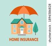 home insurance concept flat... | Shutterstock .eps vector #1896586828