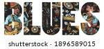 Blues Slogan. Beautiful Black...