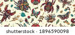 insects background. stag beetle ... | Shutterstock .eps vector #1896590098