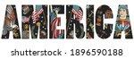 america slogan. united states... | Shutterstock .eps vector #1896590188
