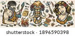 stone age. old school tattoo...   Shutterstock .eps vector #1896590398