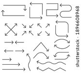 arrow icon. flat arrows. thin...