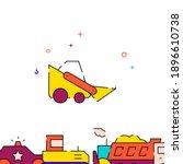 bobcat machine  mini bulldozer...