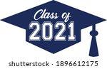 class of 2021 blue graduation...   Shutterstock .eps vector #1896612175