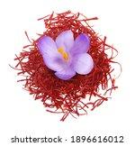 flower crocus and dried saffron ... | Shutterstock . vector #1896616012