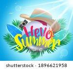 summer vector background... | Shutterstock .eps vector #1896621958