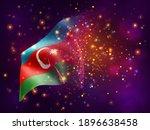 azerbaijan  vector 3d flag on...   Shutterstock .eps vector #1896638458