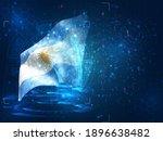 argentina  vector 3d flag on...   Shutterstock .eps vector #1896638482