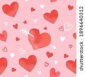 heart seamless pattern vector... | Shutterstock .eps vector #1896640312