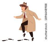 inspector working undercover... | Shutterstock .eps vector #1896648988