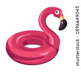 pink flamingo lifebuoy ...   Shutterstock .eps vector #1896649045