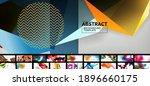 various simple minimal... | Shutterstock .eps vector #1896660175