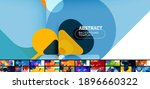 flat geometric round shapes and ... | Shutterstock .eps vector #1896660322