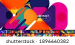 flat geometric round shapes and ... | Shutterstock .eps vector #1896660382