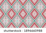 geometric ethnic pattern... | Shutterstock .eps vector #1896660988
