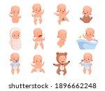 new born babies. sleeping...   Shutterstock .eps vector #1896662248