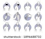 proper and improper way of... | Shutterstock .eps vector #1896688732