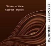 chocolate swirl waye background....   Shutterstock .eps vector #1896697978
