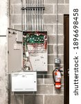 Open Fire Alarm Cabinet With...