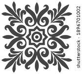 national ethno pattern flowers... | Shutterstock .eps vector #1896701002