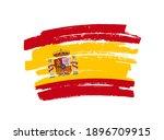 grunge brush stroke flag of...   Shutterstock .eps vector #1896709915