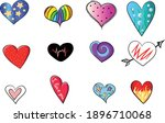 a set of vector hearts that can ...   Shutterstock .eps vector #1896710068