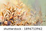 Abstract Oil Painting Of...