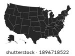 black united states of america... | Shutterstock .eps vector #1896718522