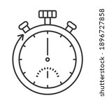 stopwatch icon vector in...