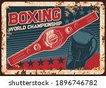 Boxing Championship Metal Plate ...