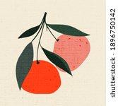 Vintage Illustration Of Fruits...