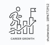 career growth flat line icon.... | Shutterstock .eps vector #1896772912