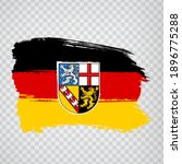 flag of saarland brush strokes. ...