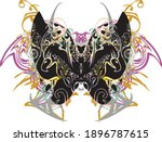 awful colored butterfly wings... | Shutterstock .eps vector #1896787615