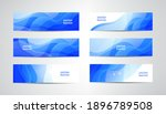 vector abstract flow wavy... | Shutterstock .eps vector #1896789508